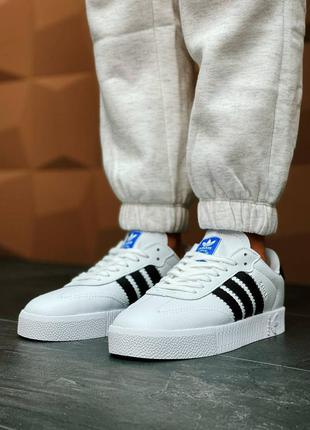 Женские кроссовки adidas originals sambarose w white