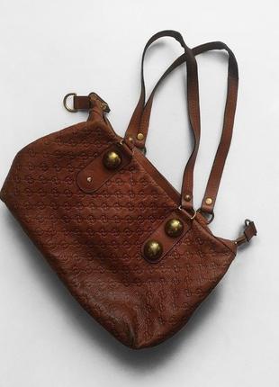 Кожаная сумка gucci monogram