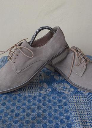 Туфли замшевые pertini