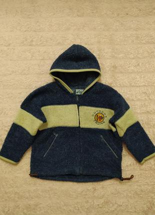 Толстовка свитер с капюшоном кофта теплая синяя