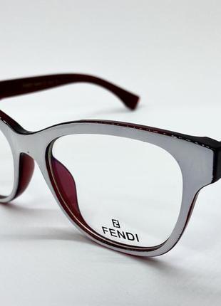 Женские очки оправа пластиковая под установку линз бело-красная