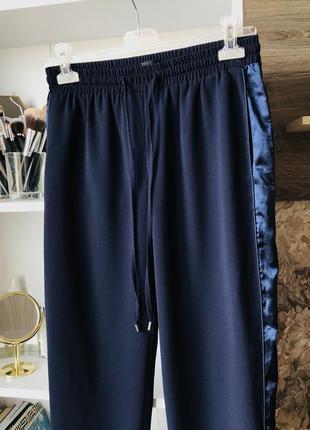 Штани жіночі темно синього кольору на резинці top shop