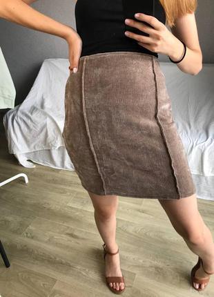 Вельветовая юбка 🤍 by prettylittlething🖤