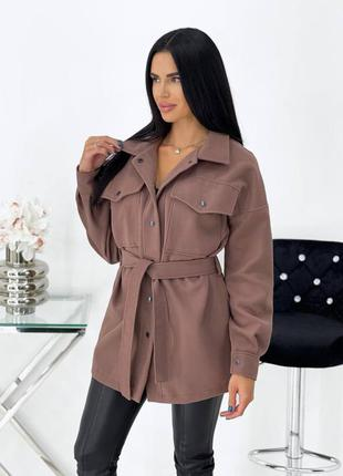 Пальто-рубашка кашемир мокко
