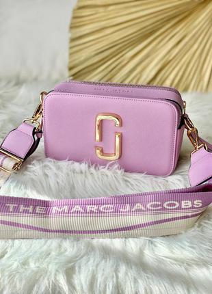 Marc jacobs lavender женская миленькая лавандовая фиолетовая брендовая сумочка с ремешком тренд жіноча маленька фіолетова стильна сумка
