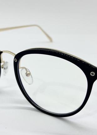 Очки женские кругляшки пластиковые с тонкими дужками металл компьютерные имиджевые