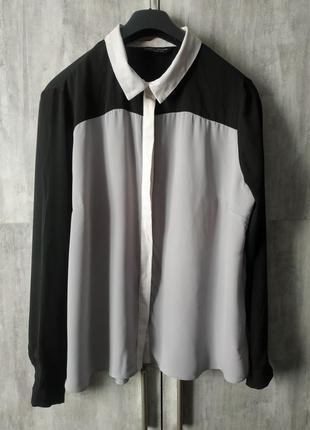 Стильная 3-цветная блузка