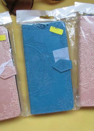 Кожаный чехол-книжка art case с визитницей для samsung galaxy m51