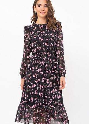 Очаровательное шифоновое платье (3 цвета)* отличное качество