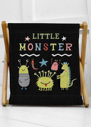 Складна корзина для дитячих іграшок little monster (kor_21s022)