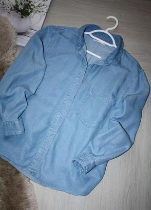 Стильная,голубая рубашка из лиоцелла! mango