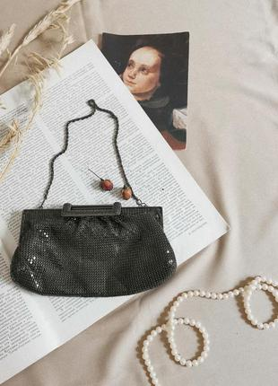 Винтажная сумка багет кольчуга