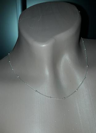 Цепочка серебро 925*/цепочка с шариками/40 см
