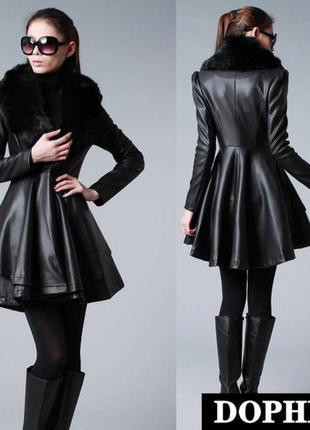 Куртка пиджак пальто плащ черная куртка из эко.кожа