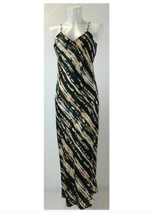 Тренд: сатинова максі довга сукня на брительках