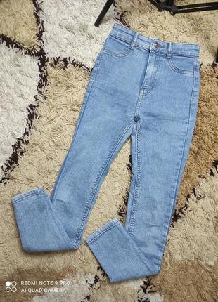 Стрейч джинсы скинни с высокой посадкой на подростка или женский xxs-xs