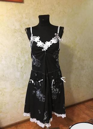 Брендове плаття жіноче сукня blue & white xxs-m [великобританія] (платье женское сарафан)