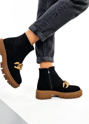 Ботинки деми 🍂натуральная замша