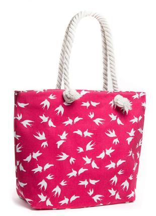 Летняя женская пляжная сумка на пляж шопер яркая