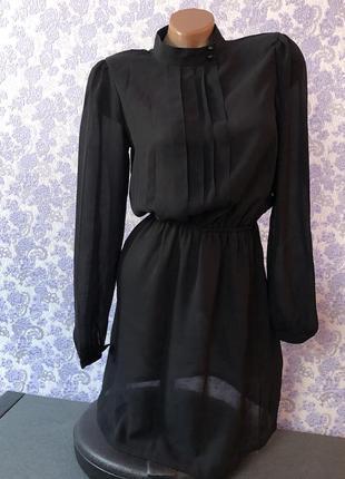 Платье шифоновое полупрозрачное, платье-комбинация