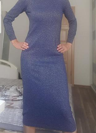 Нарядное платье с люрексом италия