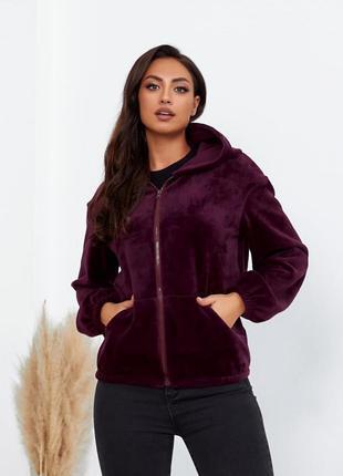 Женская куртка меховая батал