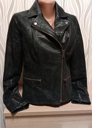 Курточка косуха из натуральной кожи