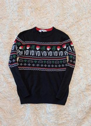 Новогодний свитер новорічний светр реглан