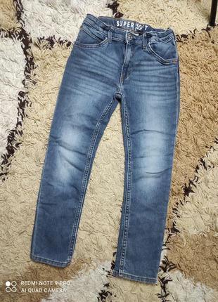 Джинсы, джинсовые штаны h&m на 7-8 лет