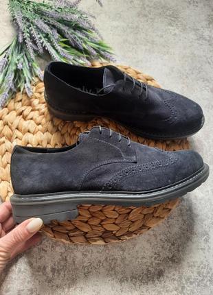 Замшевые туфли 12907