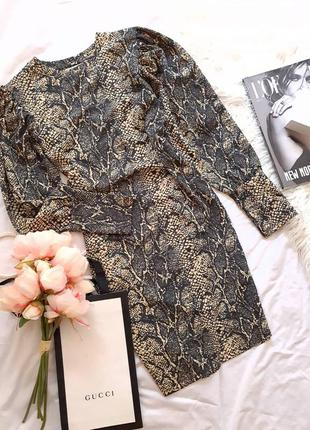 Платье со змеиным принтом от topshop