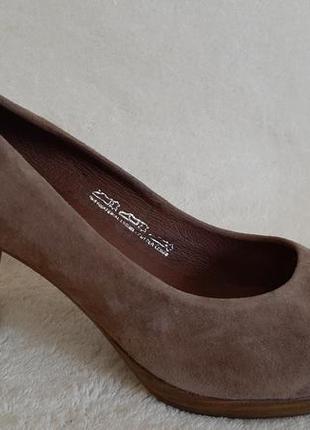 Натуральные замшевые туфли фирмы 5th avenue ( германия ) р.38 стелька 24,5 см