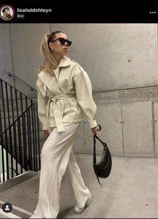Нереально трендовые широкие штаны палаццо от zara