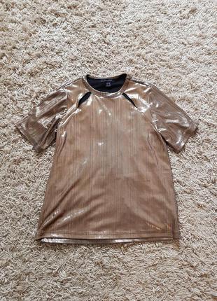 Блестящая футболка atm