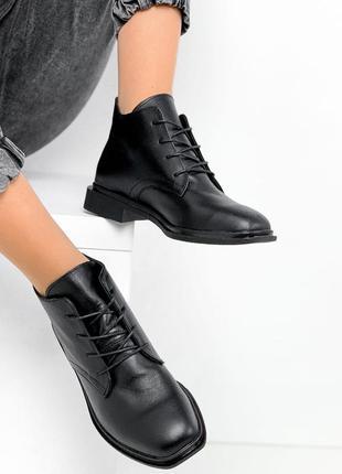 Р. 36-40 стильные кожаные ботиночки