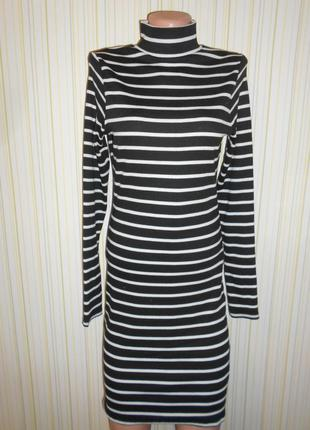 #теплое базовое трикотажное платье в рубчик #zebra#платье в полоску #