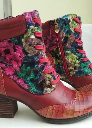 Кожаные ботинки laura vita anaelle07 франция оригинал! р.39