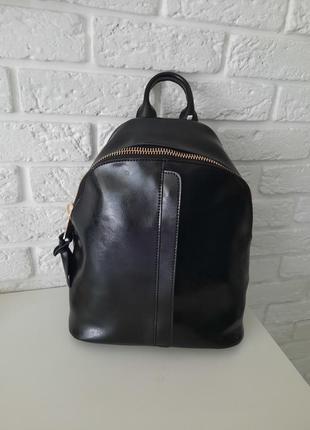 Рюкзак черный🤩натуральная кожа