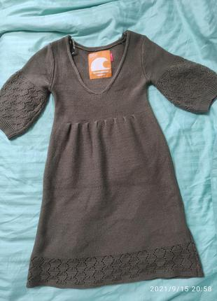 Платье-туника, теплое
