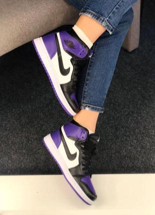 Air jordan retro high court purple