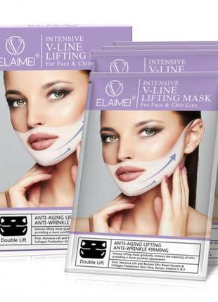Лифтинг маска elamei для коррекции овала лица, 1 шт