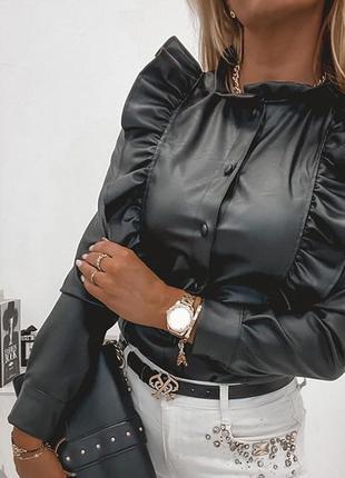 Женские рубашки экокожа с коылышками