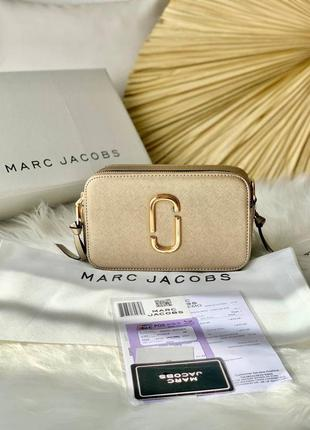 ❤ женская черная сумка сумочка marc jacobs snapshot gold black/orange ❤