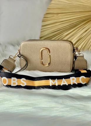 Женская сумочка marc jacobs snapshot gold black/orange