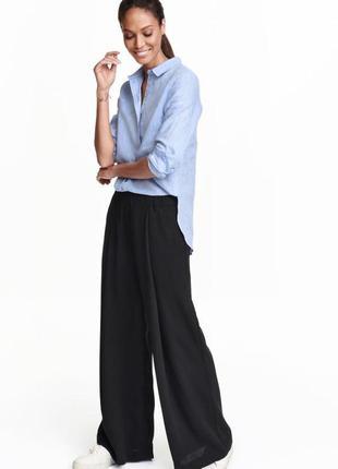 Брюки штаны палаццо широкие стильные h&m