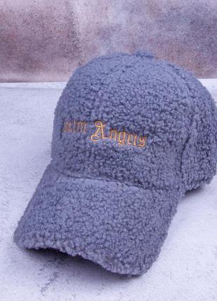 Стильная бейсболка женская, модная теплая кепка