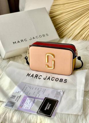 ❤ женская пудровая  сумка сумочка marc jacobs pink/red ❤