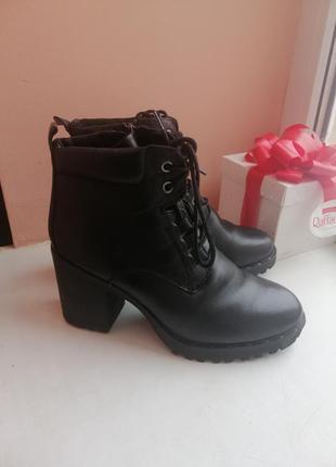 Кожаные ботинки 38р