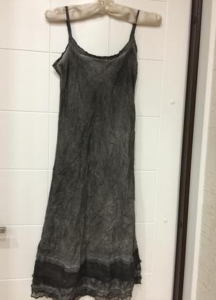 Рубашечка платье домашнее шелк р.s