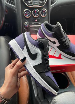 Кроссовки кеды nike air jordan 1 low court purple кросівки кеди